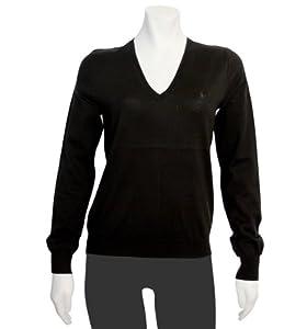Ralph Lauren Womens Black V-neck Sweater in Large