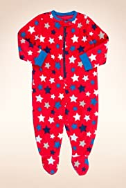 Star Print Fleece All-in-One with Stay New? [T86-3611W-S]