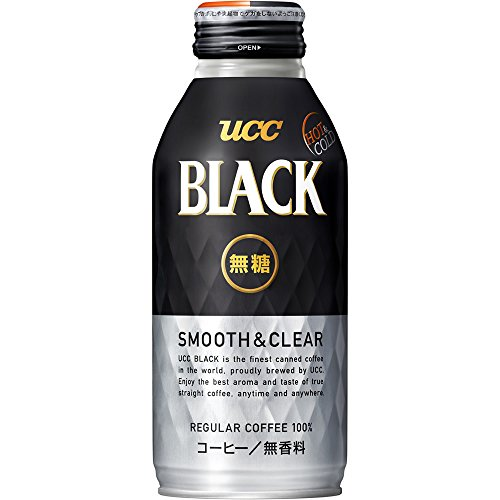 UCC BLACK無糖 SMOOTH&CLEAR リキャップ缶375g×24本