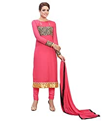 Pink Straight Suit( Georgette_PartyWear)