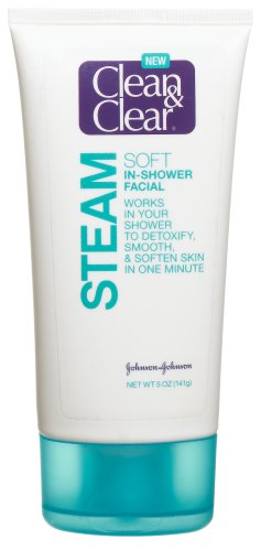 Clean & Clear Steam Soft In-Shower Facial, 5-Ounce Tubes (Pack of 2)