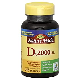 维生素D3补充片 220片 S&S后$9.66