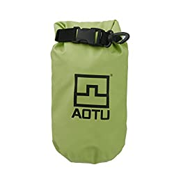 Impoted 1.5L Waterproof Dry Bag Pouch for Camping Boating Fishing Rafting Green
