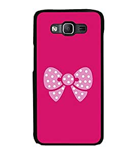 Pink Bow 2D Hard Polycarbonate Designer Back Case Cover for Samsung Galaxy On7 G600FY :: Samsung Galaxy On 7 (2015)