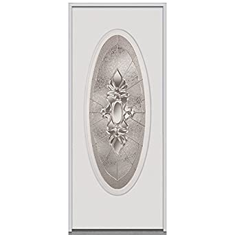 National Door Company ERP919HMN30SNLH Steel Heirloom Master Decorative Glass