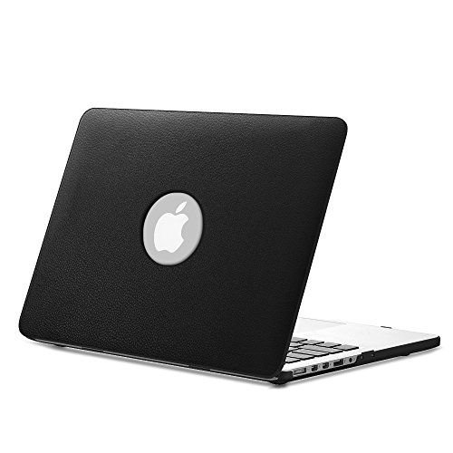 "Fintie MacBook Pro 13 Retina Custodia in Pelle - Pelle Sintetica + Corazza Dura Custodia Cover per Apple MacBook Pro 13.3"" con Retina Display A1502 / A1425 (Ultima Versione, NO DVD-ROM Drive), Nero"