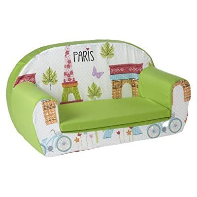 Ready Steady Bed Childrens Toddler Foam Sofa, Paris