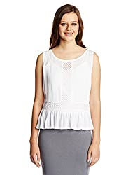 Anaphora Women's Peplum Shirt (56022_White_XL)