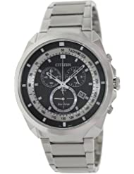 Citizen Eco-Drive Analog Black Dial Men's Watch AT2150-51E
