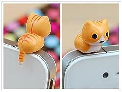 9 Styles Adorable Miniature 3d Kitten Cat Animal Smart Phone Smartphone Plug Earphone Jack Plug Charm Decoration Universal 3.5mm Ear Cap Iphone 4 4s 5 Ipod Ipad HTC Samsung Accessories Friendship Couple Lover Gift (style 6)