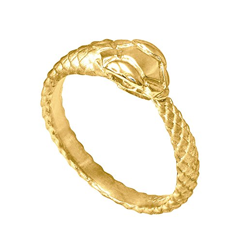 14k Yellow Gold Ouroboros Snake Ring (Size 8.5) (Snake Tail Ring compare prices)