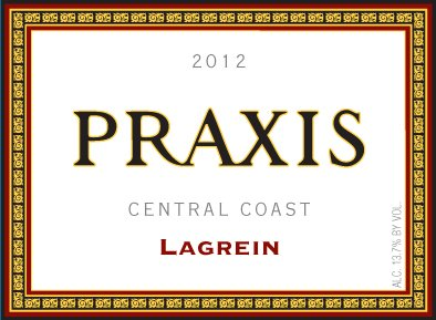 2012 Praxis Central Coast Lagrein 750 Ml