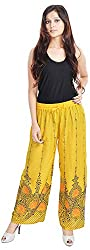 Soundarya Women Palazzo Pants-Yellow,PL14