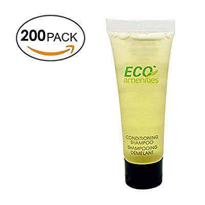 ECO Amenities Transparent Tube Flip Cap Individually Wrapped 30ml Shampoo and Conditioner 2 in 1, 200 Tubes per Case