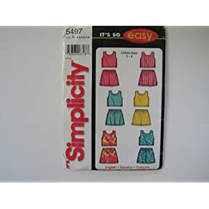 Simplicity Pattern 5497 Child's Top and Shorts