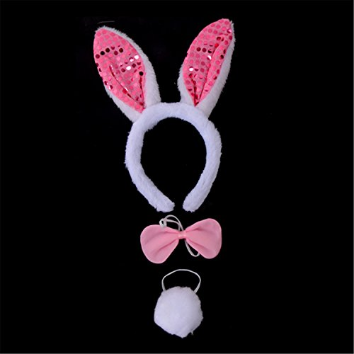 Pink Bunny Costume Accessory Kit Easter / Theme Party Decoration
