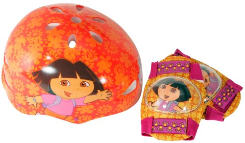 Dora-Hardshell-Bicycle-Helmet-and-Protective-Pad-Value-Pack-Toddler