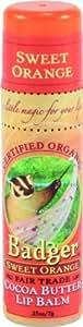 Badger Cocoa Butter Lip Balm-Sweet Orange