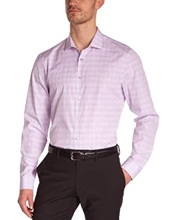 Calvin Klein - Chemise habillée - Homme - Rose (Rose/Gris) - FR: XX-Large (Taille Fabricant: 45)