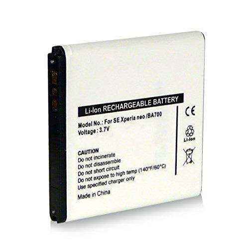 Akku / Batterie wie BA700 BA-700 für Sony-Ericsson Xperia E (C1504 / C1505) | Xperia E Dual (C1604 / C1605) | Xperia Miro (ST23i) | Xperia Neo (MT15i) | Xperia Neo V (MT11i) | Xperia Pro (MK16i) | Xperia Ray (ST18i) | Xperia Tipo (ST21 / ST21i) | Xperia Tipo Dual (ST21i2) | Xperia SX