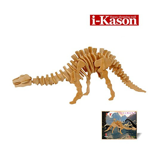 Authentic High Quality i-Kason® New Favorable Imaginative DIY 3D Simulation Model Wooden Puzzle Kit for Children and Adults Artistic Wooden Toys for Children - Chameleon Dragon - 1