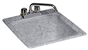 Swanstone DIT-S-042 17-1/4-Inch by 20-Inch Commercial Laundry Sink, Gray Granite Finish