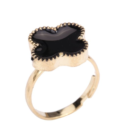 Yazilind Jewelry Flower Gold Plated Alloy Ring