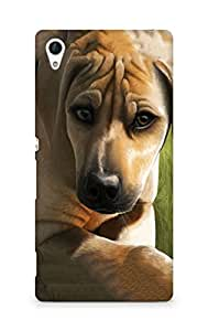 Amez designer printed 3d premium high quality back case cover for Sony Xperia Z4 (Dog)