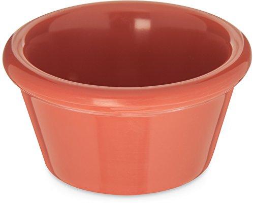 Carlisle 085252 Melamine Smooth Ramekin, 2 oz Capacity, Sunset Orange (Case of 72)