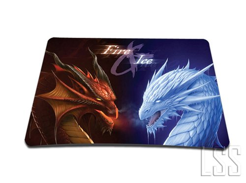 Standard-7-x-9-Inch-Mouse-Pad-Fire-Ice-Dragons