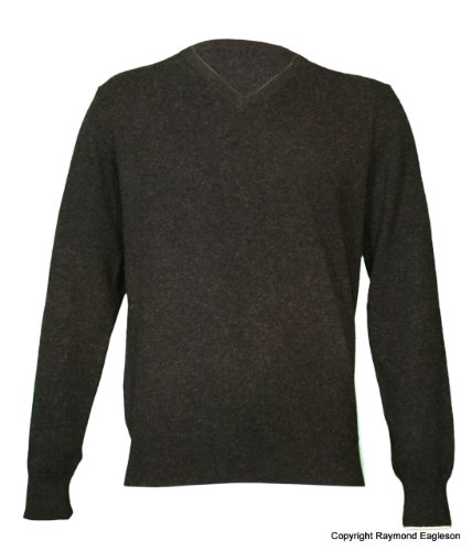 Noluur Cashmere for Men V Neck Jumper in Atrous Grey Size S