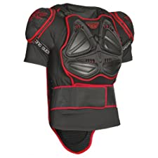 Fly Racing Barricade Short Sleeve Adult Roost Deflector Motocross/Off-Road/Dirt Bike Motorcycle Body Armor - Black/Red / Large
