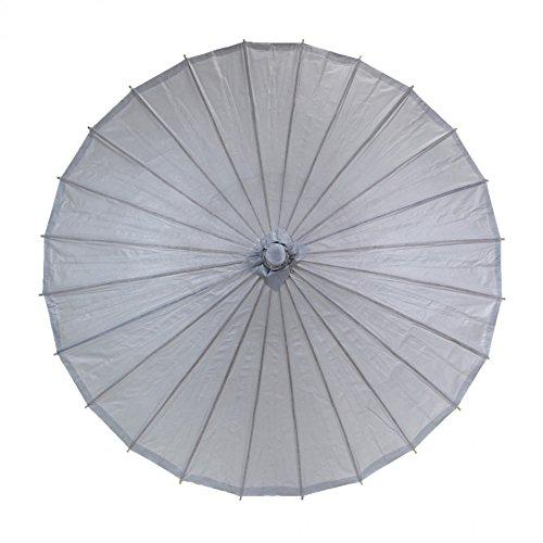 Koyal Color Paper Parasol, 32-Inch, Gray front-998355