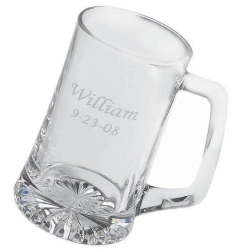 PERSONALIZED Engraved 25 Ounce CLASSICALLY STYLED SPORTS MUG Bar Pub BEER GLASS:   Personalized Beer Mug for Christmas