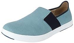 Spunk Mens Blue Canvas Loafers - 7 UK