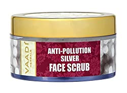 Vaadi Herbals Silver Face Scrub Pure Silver Dust and Fenugreek, 50g
