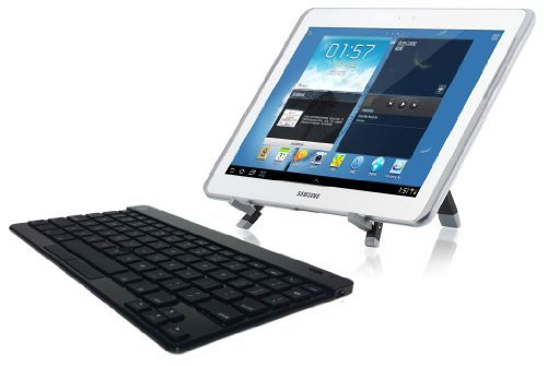 Ultra Slim Bluetooth Keyboard Designed For All Android & Kindle Tablets - Includes Stand & Mouse Function