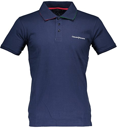 Polo T-shirt Maniche Corte Uomo Cesare Paciotti Men Short Sleeves CP14PS#1 (L, BLU)