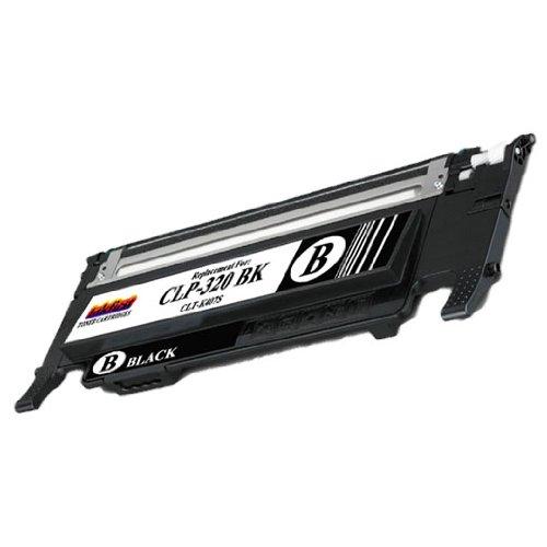 Black Toner Cartridge CLP-320 BK (CLT-K407S) Compatible Remanufactured for Samsung CLP320 Black