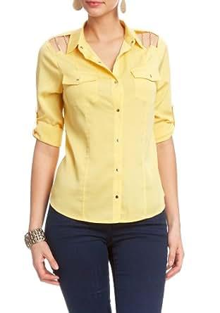 2B Cece 3/4 Sleeve Shirt 2b Woven Tops Marigold-xxs