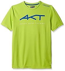 Kappa Men's Akt visoc Tops, Lime/Green, Small