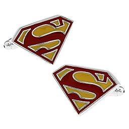 Men\'s Wedding Shirt Surper Hero Cufflinks (Red Superman)