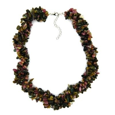 Sterling Silver Chips Necklace Finish: Tourmaline
