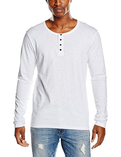 James Harvest Stoneton, Top a Manica Lunga Uomo, White, XXX-Large