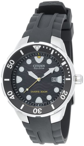 Citizen Men's Eco-Drive Professional Diver Rubber Strap Watch #BN0070-09E