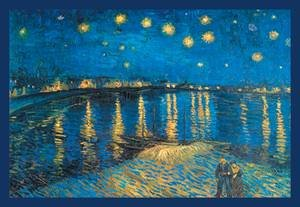 Walls 360 Peel & Stick Wall Decals: Night at the Rhone by Vincent Van Gogh (18 in x 12 in)