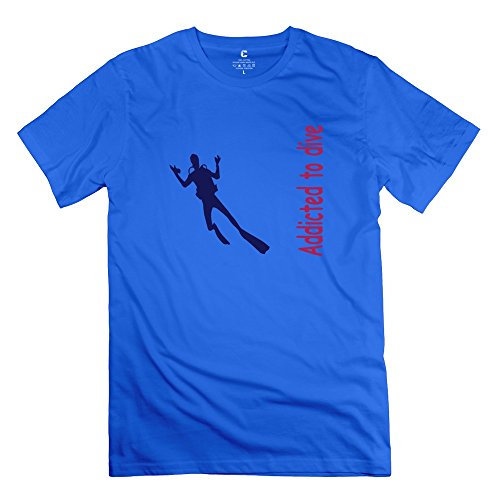 Yongth Men'S Diving 100% Cotton T-Shirt - Quotes Tee Shirt Royalblue Us Size Xl