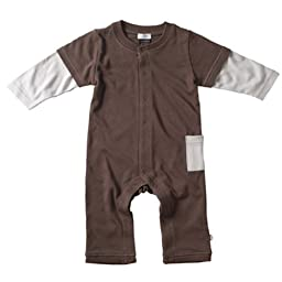 Babysoy Layered One Piece , Chocolate 12 18 Months