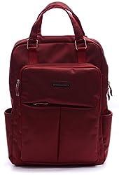 DubYao Unisex 15.6-Inch Multipurpose Water Resistant Laptop Bag/MacBook Air Backpack (Red)