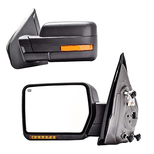 Great Deal! DEDC Towing Mirrors Ford F150,Ford Tow Mirrors,2007-2014 Pair Power Heated,Turn Signal L...